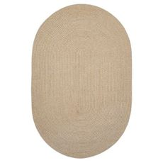 """Homespice Decor 27"""" x 45"""" Oval Biscuit Ultra Durable Braided Rug"""