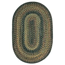 Homespice Decor 6' x 9' Oval Black Forest Ultra Durable Braided Rug