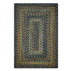 Homespice Decor 6' x 9' Rect. Black Forest Ultra Durable Braided Rug