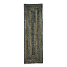 """Homespice Decor 22"""" x 72"""" Rect. Black Forest Ultra Durable Braided Runner"""
