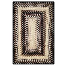 Homespice Decor 6' x 9' Rect. Black Mist Ultra Durable Braided Rug