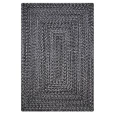 "Homespice Decor 20"" x 30"" Rect. Black Ultra Durable Braided Rug"