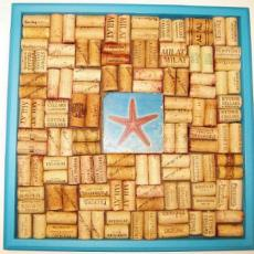 Starfish wine cork board