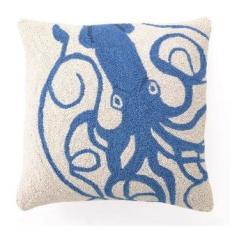 Blue Squid Hook Pillow