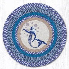 Blue Mermaid Round  Rug