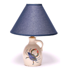 Blue Crab Jug Lamp
