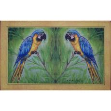 Blue Macaw Door Mat