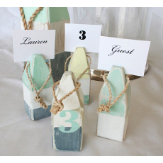 Buoy Place Card Holder Set- Pastel