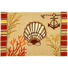 By the Sea Clam Shell Rug