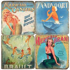 Siren Italian Marble Coasters