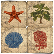 Coastal Coasters (Set Of 4)