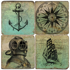 Treasure Map Coasters