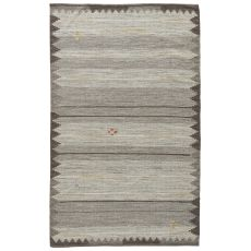 Youth Tribal Pattern Neutral/Brown Wool And Cotton Area Rug ( 8X11)