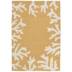 "Coral Bedroom Yellow Rug 24"" x 36"""