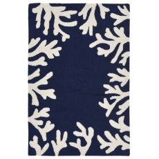"Coral Bedroom Navy Rug 42"" X 66"""
