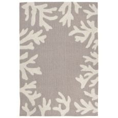 "Liora Manne Capri Coral Bdr Indoor/Outdoor Rug - Silver, 24"" by 36"""