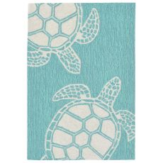 "Liora Manne Capri Turtle Indoor/Outdoor Rug - Blue, 20"" By 30"""