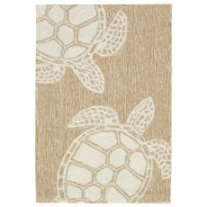 "Liora Manne Capri Turtle Indoor/Outdoor Rug Neutral 24""X36"""