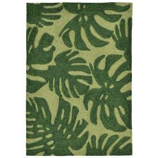 "Fronds Green Rug 42"" x 66"""
