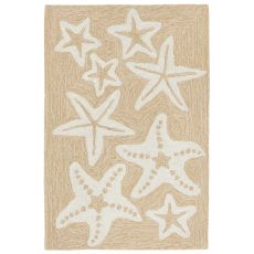 "Starfish Neutral Rug 20"" X 30"""