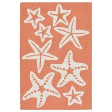 "Starfish Coral Rug 42"" X 66"""