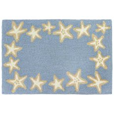 "Liora Manne Capri Starfish Border Indoor/Outdoor Rug Bluewater 24""X36"""