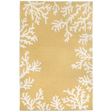 Coral Bedroom Yellow Rug 5' x 7'6""