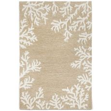 Coral Border Indoor/Outdoor Rug Neutral