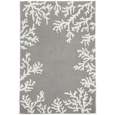 Liora Manne Capri Coral Bdr Indoor/Outdoor Rug - Silver, 5' by 7'6""