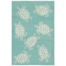 "Liora Manne Capri Turtle Indoor/Outdoor Rug - Blue, 42"" By 66"""