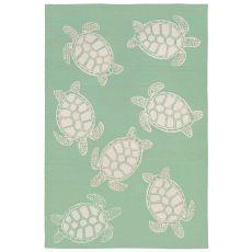 Liora Manne Capri Turtle Indoor/Outdoor Rug Green