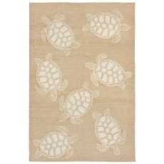 "Turtle Neutral Rug 42"" X 66"""