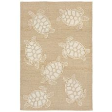 Liora Manne Capri Turtle Indoor/Outdoor Rug Neutral 5'X7'6""