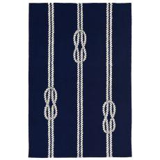 "Ropes Navy Rug 20"" X 30"""