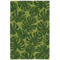 Fronds Green Rug 5' x 7'6""