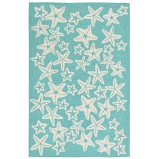 """Starfish Aqua Rug 5' x 7'6"""""""
