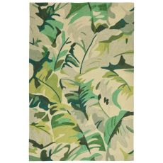 "Palm Leaf Green Rug 42"" X 66"""
