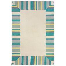 """Liora Manne Capri Beach Bdr Indoor/Outdoor Rug - Blue, 24"""" by 8'"""