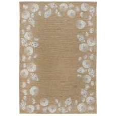 "Liora Manne Capri Seashell Border Indoor/Outdoor Rug Natural 7'6""X9'6"""