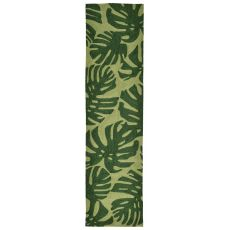 "Fronds Green Rug 24"" x 8'"