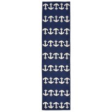 "Anchor Navy Rug 24"" X 8'"