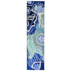 "Jelly Fish Ocean Rug 24"" X 8'"