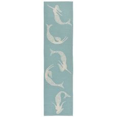 "Liora Manne Capri Mermaids Indoor/Outdoor Rug Blue 24""X8'"