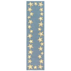 "Liora Manne Capri Starfish Border Indoor/Outdoor Rug Bluewater 24""X8'"