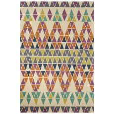 Indoor/Outdoor Tribal Pattern Ivory/Purple Polyester Area Rug (7.6X9.6)