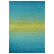 Indoor/Outdoor Abstract Pattern Blue/Green Polyester Area Rug (7.6X9.6)