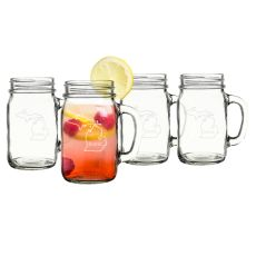 16 Oz. Home State Old Fashioned Drinking Jars (Set Of 4)