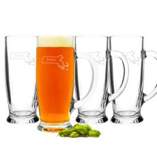 18 Oz. Home State Craft Beer Mugs(Set Of 4)
