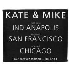 Personalized About Us Gallery Wrapped Canvas