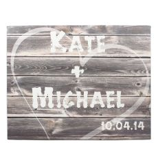 Personalized Rustic Wood Gallery Wrapped Canvas